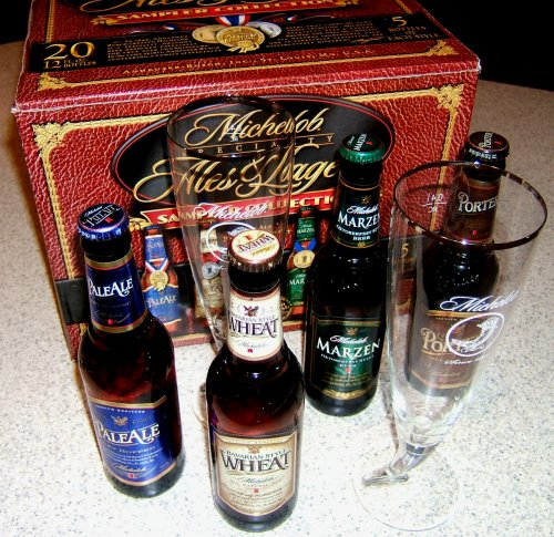 Michelob Specialty Sampler Collection, plus glasses
