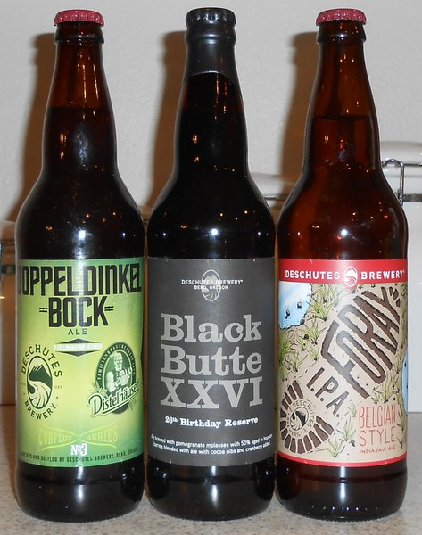 Three specialty beers from Deschutes Brewery