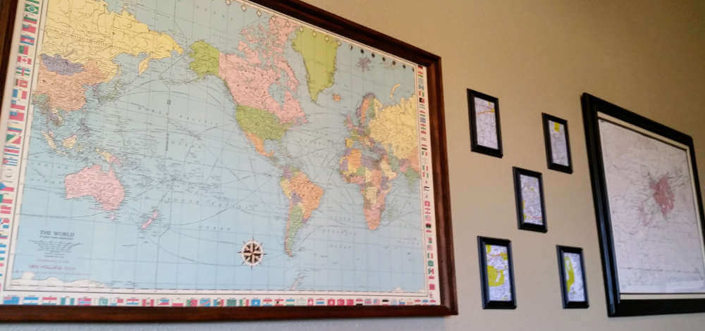 Quirk Brewing, maps on the wall
