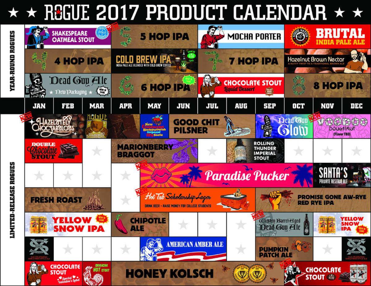 Rogue Ales 2017 beer lineup
