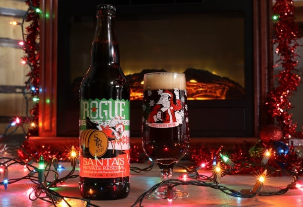 Rogue Ales Santa's Private Reserve 2017 with lights