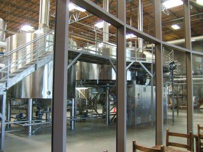 Stone brewery tanks