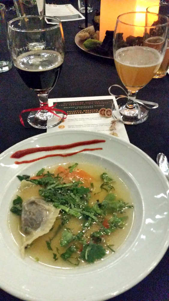 Tetherow Brewery Smackdown first course