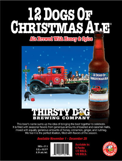 12 Dogs Of Christmas.Advent Beer Calendar 2015 Day 3 Thirsty Dog 12 Dogs Of
