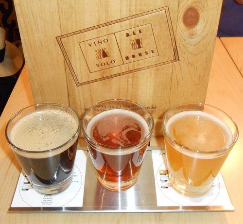 Vino Volo beer flight