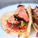 Salmon, Avocado and Corn Tortillas