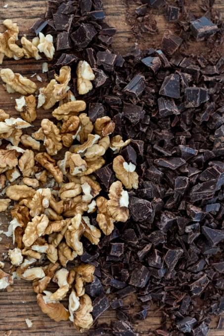 Chocolate, Pear and Walnut Crumble