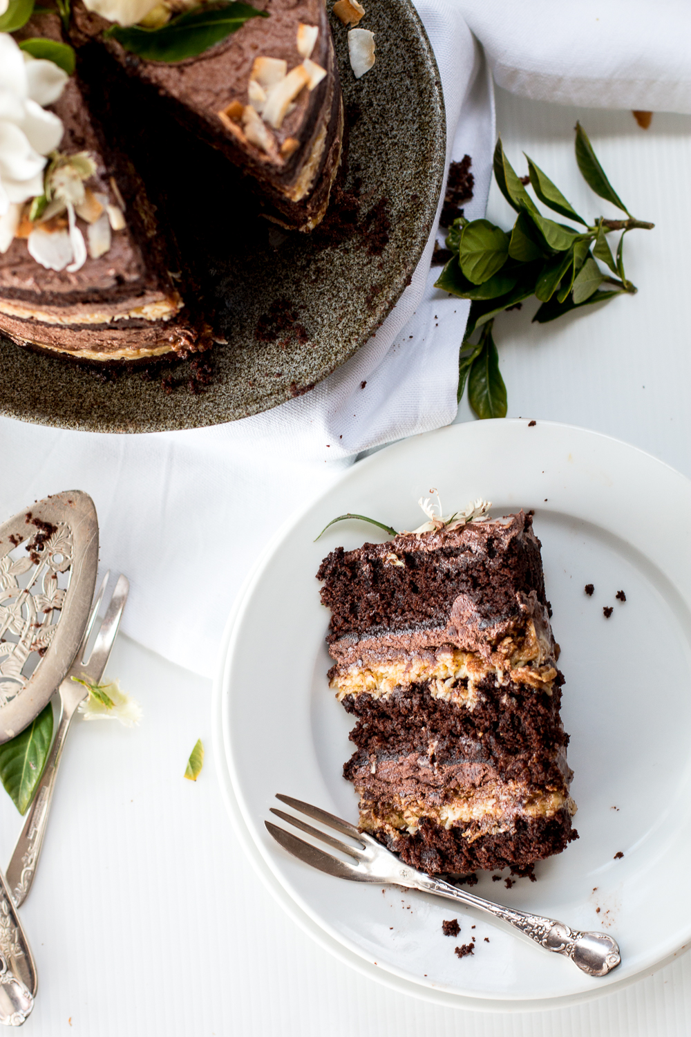 Momofuku German Chocolate Espresso Cake a blog birthday The