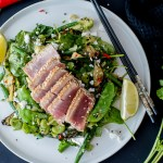 Super Green Summer Sesame-Lime Salad with Seared Tuna