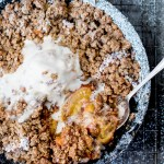 Peach Crumble with Maple-Walnut Ice cream