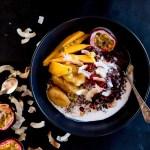 Mango & Coconut Black Sticky Rice Pudding