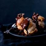 Mocha Profiteroles with Espresso Ice-Cream & Caramelised Cocoa Nibs + a Saveur finalist!