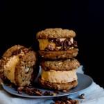 Pumpkin, Pecan & White Chocolate Ice Cream Sandwiches