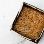 Brown butter, miso & walnut dark chocolate blondies - The Brick Kitchen