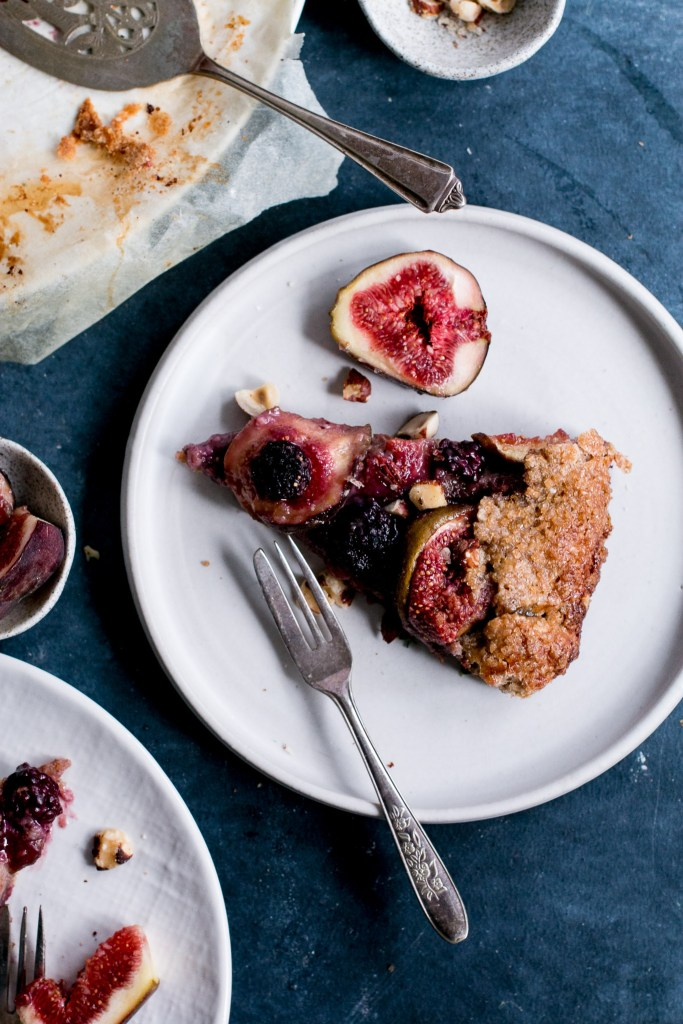 Fig, Blackberry & Hazelnut Rye Galette - The Brick Kitchen