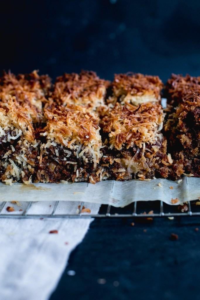 Sticky date, coconut & feijoa lumberjack cake - The Brick Kitchen