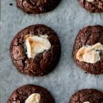 Dark Chocolate, Rye and Halva Cookies