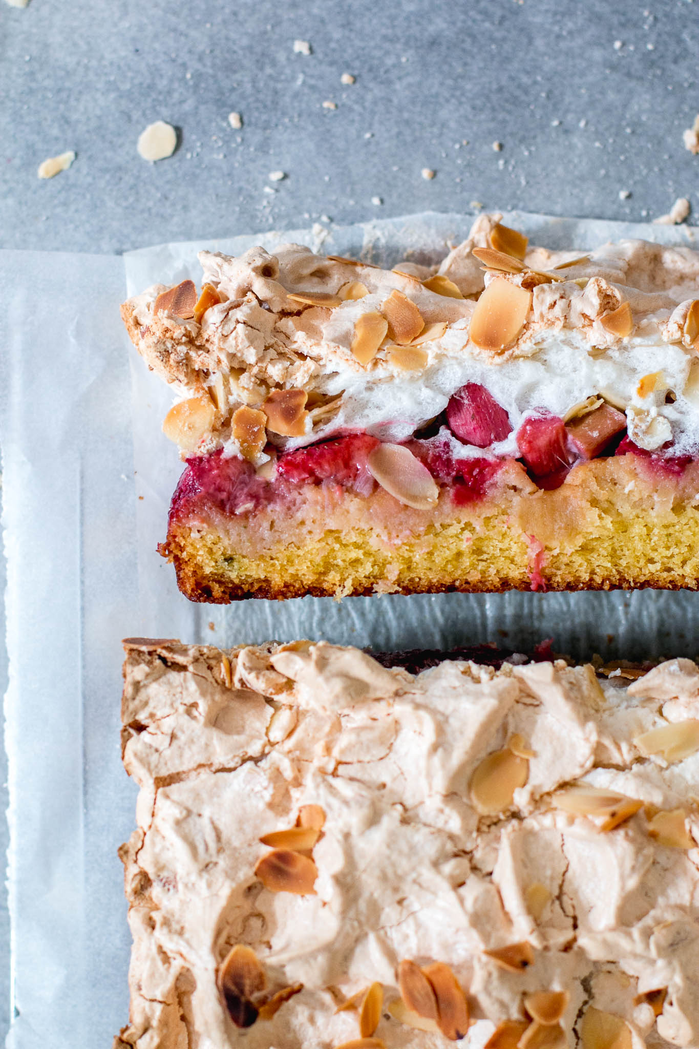Rhubarb Strawberry & Kaffir Lime Louise Cake - The Brick Kitchen