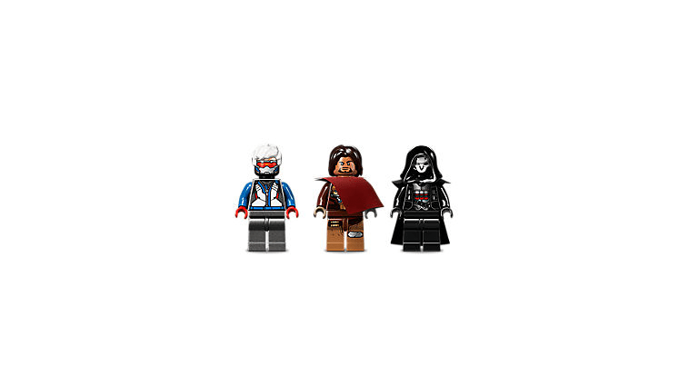 Overwatch Minifigs: Soldier: 76, Reaper and McCree