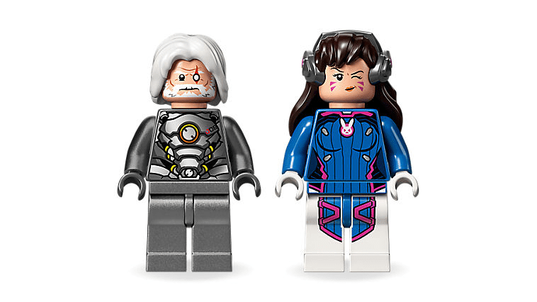 LEGO Overwatch Minifigures D.Va and Reinhardt