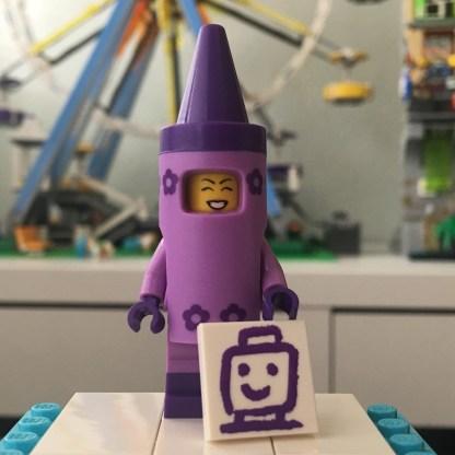 LEGO Crayon Girl Minifigure