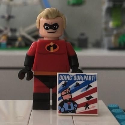 LEGO Disney Series 1 Mr Incredible Minifigure