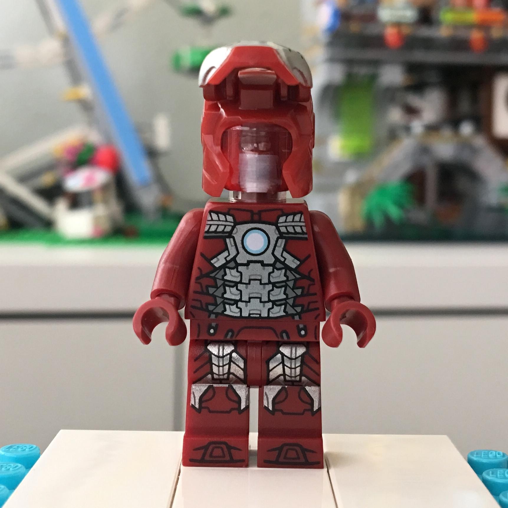 LEGO Plain Red Minifig Space Helmet with Black Visor