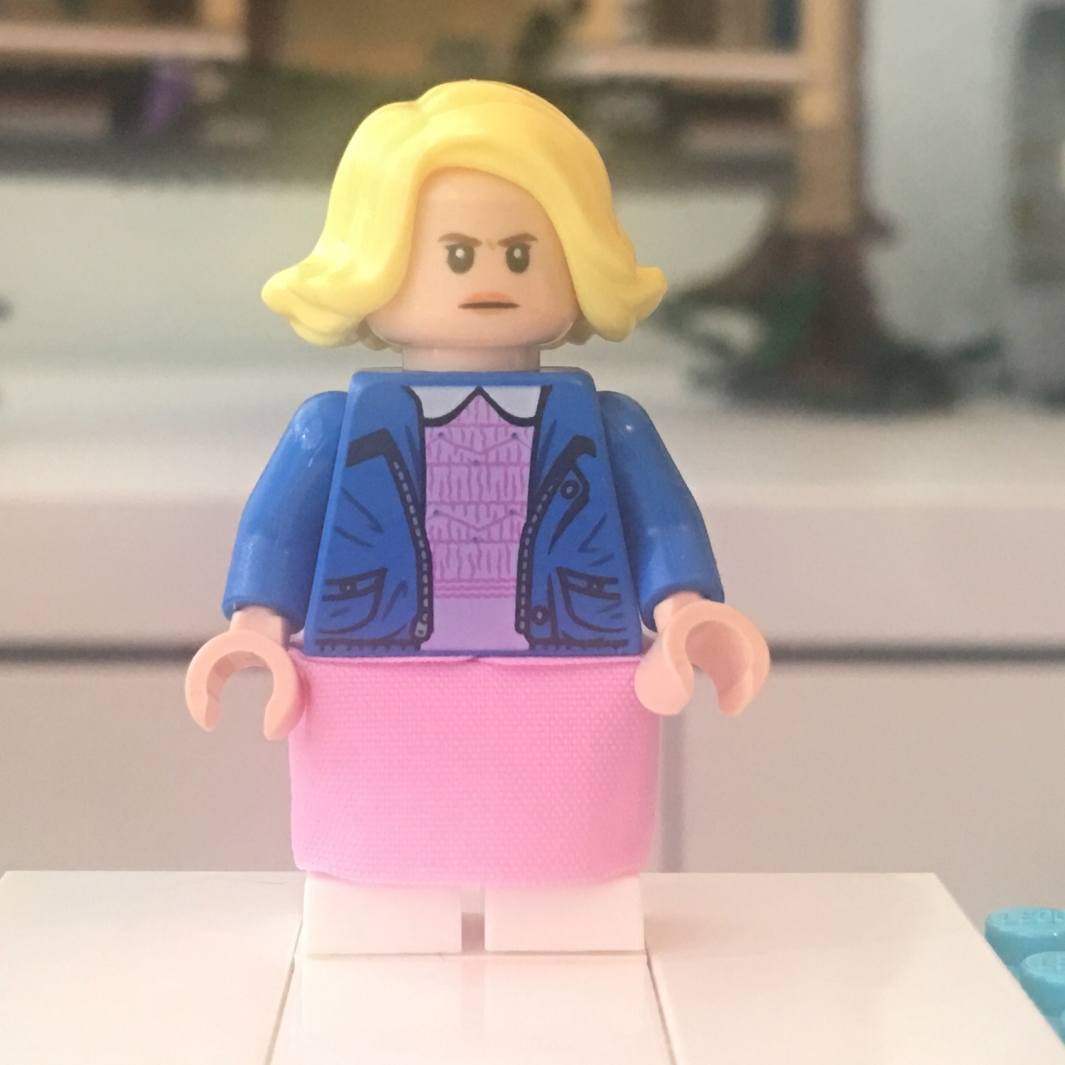 Hair from set 75810 for Stranger Things Minifigure NEW Lego Eleven Head