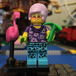 LEGO Gardner Minifigure with Flamingo