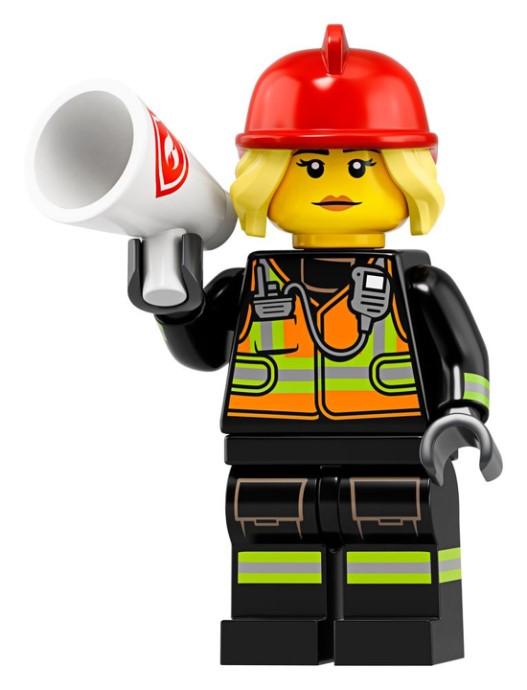 LEGO Series 19 Firefghter Minifigure