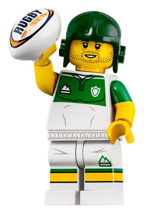 LEGO Series 19 Rugby Player Minifigure