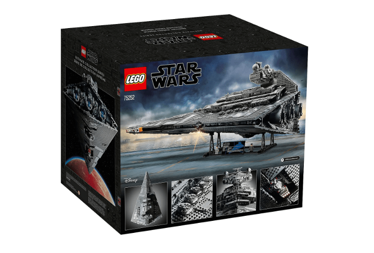 Box Back photo of the LEGO 75252 Star Wars UCS Imperial Star Destroyer: the Devastator