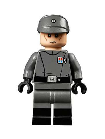 One of only 2 minifigures in the new UCS Imperial Officer from LEGO.  Set number 75252.  This one will be quite rare.