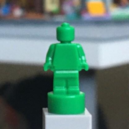 LEGO Trophy or nanofigure - monochrome Green