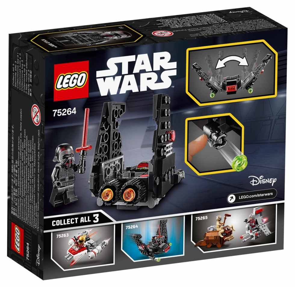 LEGO Star Wars 75264 Kylo Rens Shuttle microfighter Box Back