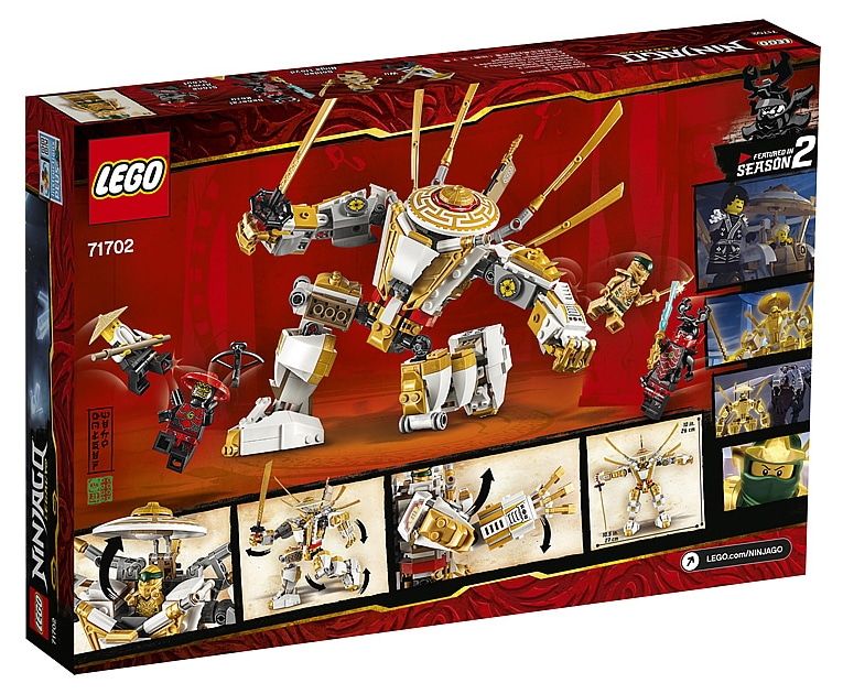 LEGO 71702 Ninjago Golden Mech Box back