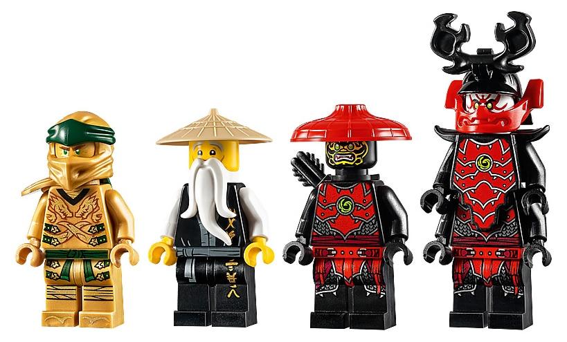 LEGO 71702 Ninjago Golden Mech minifigures
