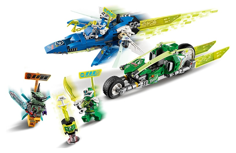 LEGO 71709 Ninjago Jay and Lloyd's Power Car Details