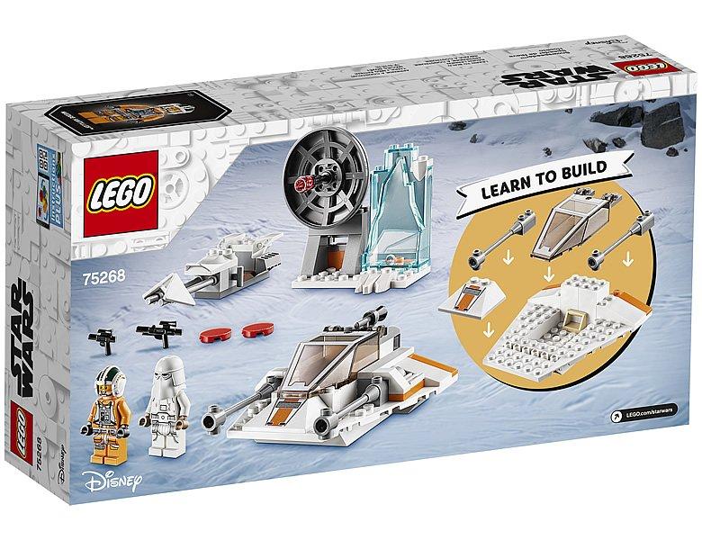LEGO 75268 Star Wars Snowspeeder Box Back