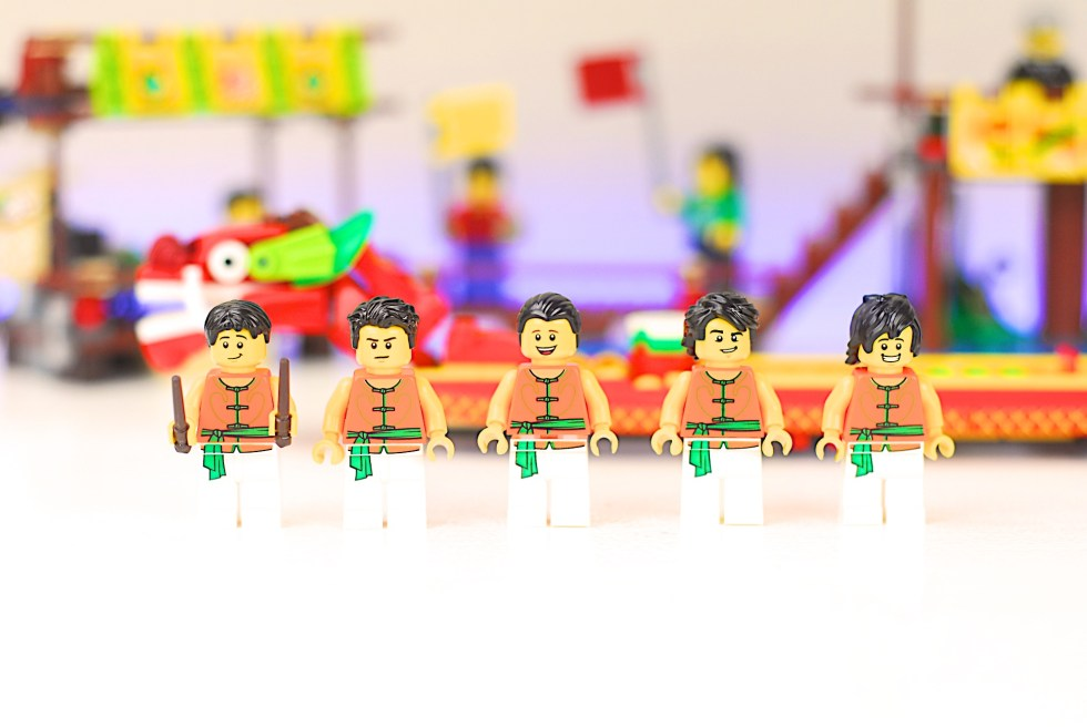 LEGO 80103 Dragon Boat Race Minifigures Red Boat Team