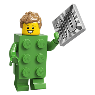 Lego 71027 Green Brick Costume Guy Series 20 Minifigure