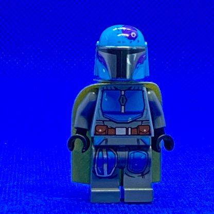 LEGO Star Wars Minifigure Mandalorian Tribe Warrior - Male, Olive Green Cape, Dark Azure Helmet