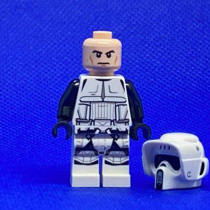 LEGO Star Wars Minifigure Scout Trooper (Dual Molded Helmet, Printed Legs, Frown)