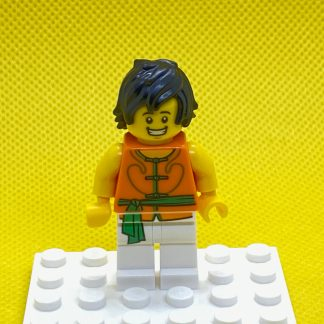LEGO Minifigure Dragon Boat Race Team Green:Orange Member 1