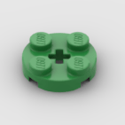 LEGO Part Bright Green Plate, Round 2 x 2 with Axle Hole