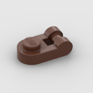 LEGO Part Reddish Brown Plate Round 1 x 1 with Bar Handle on Side