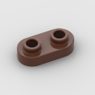 LEGO Part Reddish Brown Plate, Round 1 x 2 with Two Open Studs