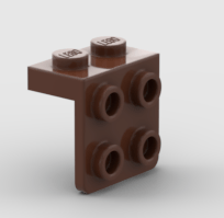 LEGO Reddish Brown L Bracket 1x2 2x2