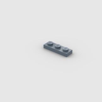 LEGO Part Sand Blue Plate 1 x 3