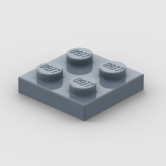 LEGO Part Sand Blue Plate 2 x 2